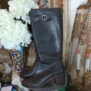 HUNTER Leather Tall Riding Boots